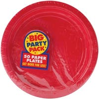 "Big Party Pack Luncheon Plates 7"" 50/Pkg-Apple Red"