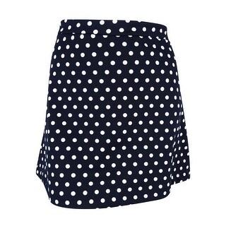 MICHAEL Michael Kors Women's Polka Dot Print Mini Skirt - New Navy