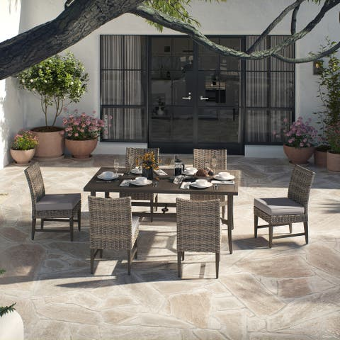 OVE Decors Bottega 7-Piece Dining Set in Light Brown and Beige