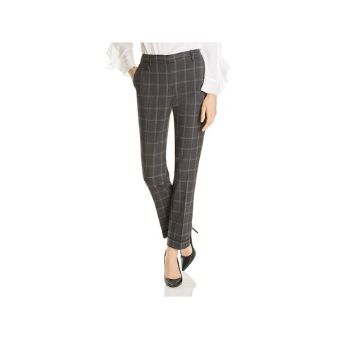 T Tahari Womens Ashley Dress Pants Plaid Office