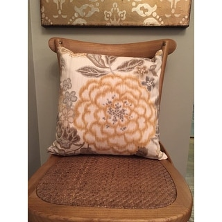 Set of 2 Unai Floral Throw Pillows in Yellow