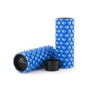 ProsourceFit Premium Hexa Bumps 2-in-1 Sports Massage Trigger Point Foam Roller w/Grid 24 x 6 Blue - 24h x 5d