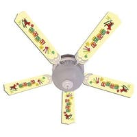 Yellow Baby Blocks Designer 52in Ceiling Fan Blades Set - Multi