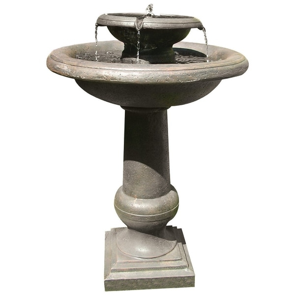 Smart Solar 24260RM1 Oiled Bronze Finish Chatsworth 2 Tier Solar On Demand Fountain