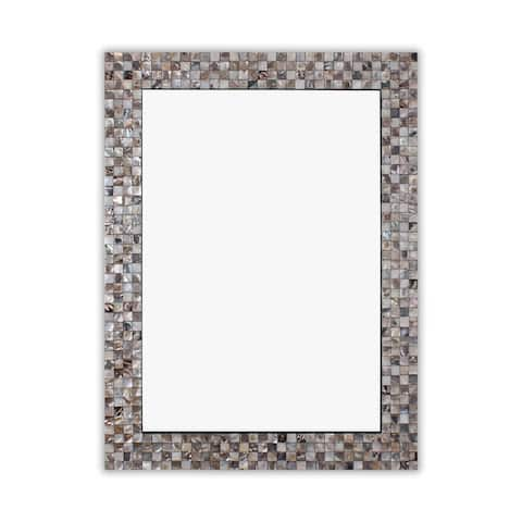 Mosaic Seashell Wall Mounted Accent Mirror - 31.5 x 23.62