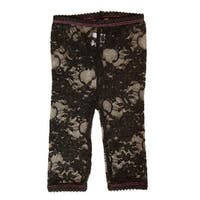 Baby Bella Maya LL001B4T Lacy Leggings Black 4T