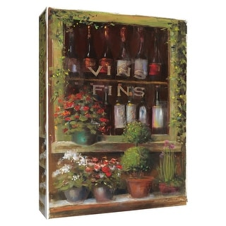 "PTM Images 9-154512  PTM Canvas Collection 10"" x 8"" - ""Wine and Herbs I"" Giclee Wine Textual Art Print on Canvas"