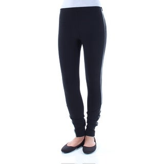 Womens Black Casual Skinny Leggings Size 2