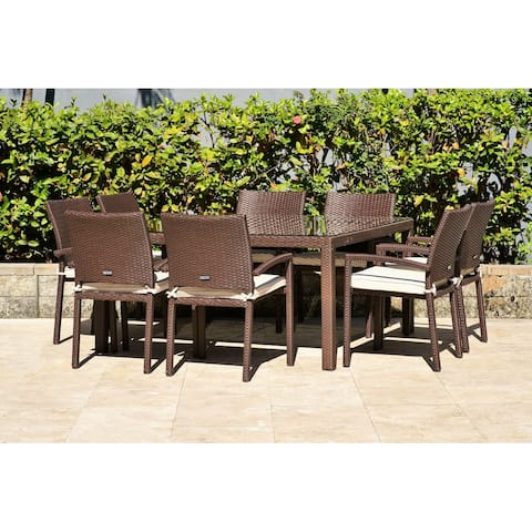 Popham 9-piece Outdoor Dining Set by Havenside Home