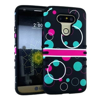 Rocker Series Slim Protector Case for LG G5 (Red and Green Circle on Black Snap