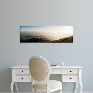 Easy Art Prints Panoramic Images's 'Elevated view of islands in a river, Lantau, Hong Kong, China' Premium Canvas Art