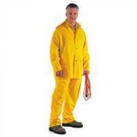 "Diamondback SRS3/111-L Large Poly Rainsuit, 29 x 1/2"", Yellow"