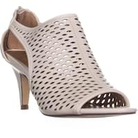 SC35 Haddiee Perforated Caged Peep Toe Heels, White - 8 us