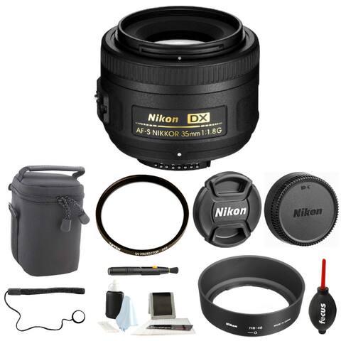 Nikon AF-S DX NIKKOR 35mm f/1.8G Lens with Accessory Bundle