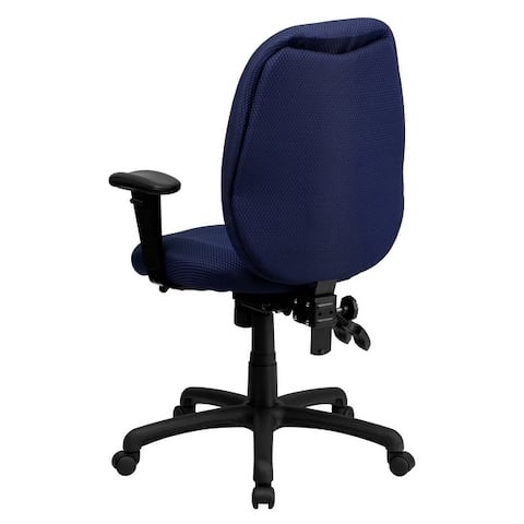 High Back Fabric Multifunction Ergonomic Executive Swivel Office Chair with Arms