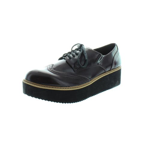 Steve Madden Womens Lydia Oxfords Patent Wing Tip