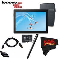 "Lenovo 10.1"" Tab 4 10 Plus 16GB Tablet (Wi-Fi/LTE, Slate Black) #ZA2T0000US + 10.1 "" Padded Case For Tablet Bundle"