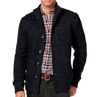 Weatherproof NEW Blue Marled Mens LT Shawl-Collar Waffle-Knit Cardigan|https://ak1.ostkcdn.com/images/products/is/images/direct/3155ef6d9de6210b792ab56dad7d944940257a54/Weatherproof-NEW-Blue-Marled-Mens-LT-Shawl-Collar-Waffle-Knit-Cardigan.jpg?impolicy=medium
