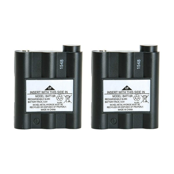 Replacement Battery For Midland GXT800 2-Way Radios - BATT5R (700 mAh, 6V, NiMH) - 2 Pack