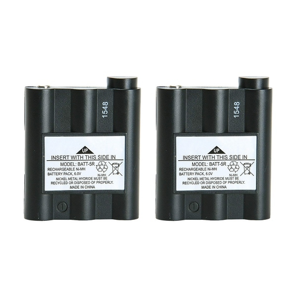 Replacement Battery For Midland LXT350 2-Way Radios - BATT5R (700 mAh, 6V, NiMH) - 2 Pack