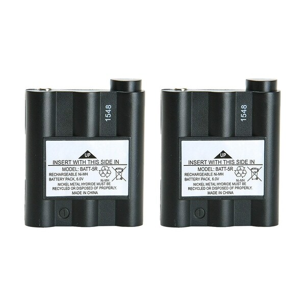 Replacement Battery For Midland NAUTICO NT1VP 2-Way Radios - BATT5R (700 mAh, 6V, NiMH) - 2 Pack
