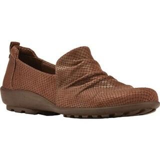 Walking Cradles Women's Hanson Loafer Brown Matt Snake Leather