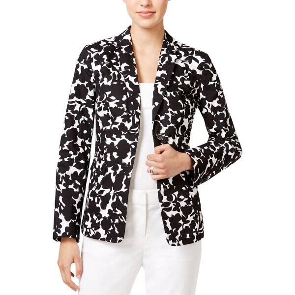 cf902525 Shop Tommy Hilfiger Womens Blazer Floral Print Open Front - Free Shipping  Today - Overstock - 16395404