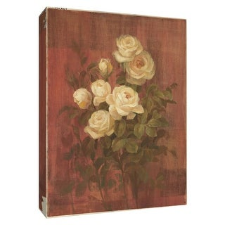 """PTM Images 9-154569  PTM Canvas Collection 10"""" x 8"""" - """"Peach Rose I"""" Giclee Roses Art Print on Canvas"""