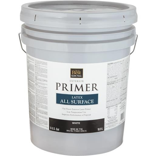 Ext White Latex Primer W35w00716 20 Unit Pail Free Shipping Today 17533627