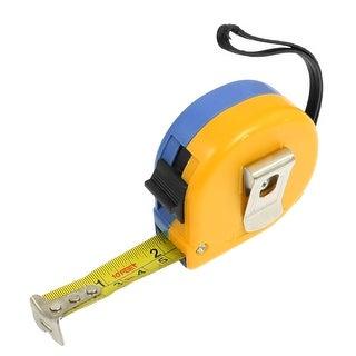 Unique Bargains Hand Strap Design 3 Meters Retractable Ruler Tape Measure Yellow Blue
