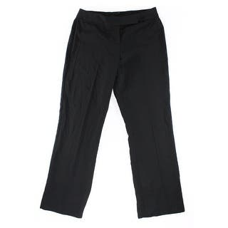 Designer NEW Solid Black Women's Size 14 Straight Leg Dress Pants|https://ak1.ostkcdn.com/images/products/is/images/direct/315a35205752db2824a6713b50021d53ac15922f/Designer-NEW-Solid-Black-Women%27s-Size-14-Straight-Leg-Dress-Pants.jpg?impolicy=medium