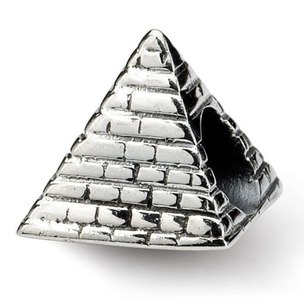 Sterling Silver Reflections Pyramid Bead (4mm Diameter Hole)