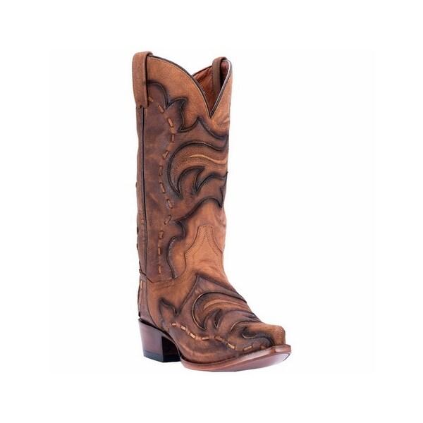 Dan Post Western Boots Mens Hensley Snip Toe Leather Tan Brown