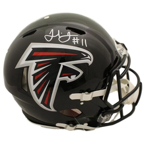 promo code 6158b 27835 Julio Jones Autographed Atlanta Falcons Speed Proline Helmet JSA