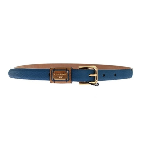 Dolce & Gabbana Dolce & Gabbana Brown Leather Gold Buckle Logo Waist Belt - 70-cm-28-inches
