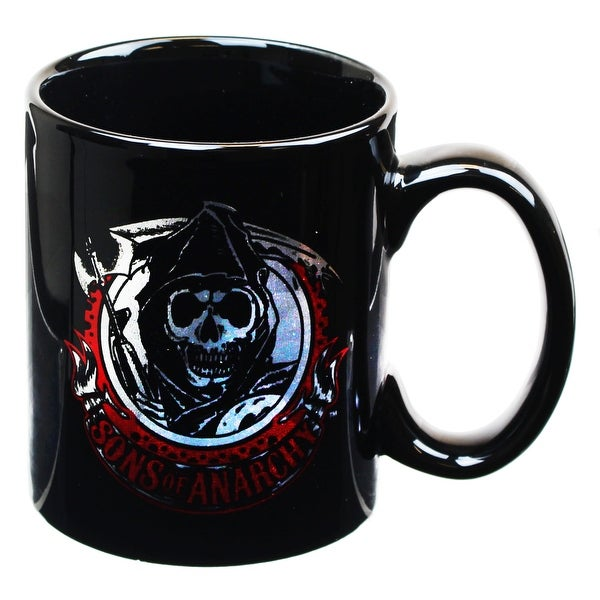 Sons of Anarchy SAMCRO Grim Reaper Logo 16oz Coffee Mug - Multi