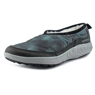 Merrell Pechora Wrap Women Round Toe Canvas Black Loafer