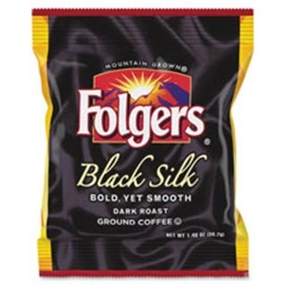Folgers Black Silk Ground Coffee Fraction Pack, 42 Per Carton