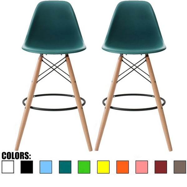 Shop 2xhome Set Of 2 26 Inch Modern Chair Colors Dsw Counter Height