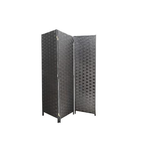 3 Panel Woven Bamboo Screen (chocolate)