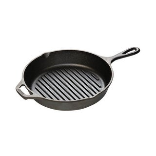 Lodge L8GP3 Cast Iron Round Grill Pan, 10-1/4 ""