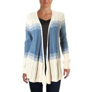 American Living Womens Striped Open Front Cardigan Sweater