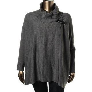 Calvin Klein Womens Plus Dolman Sleeves Cowl Neck Pullover Sweater - 0x/1x
