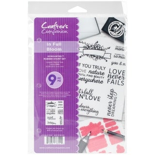 Crafter's Companion Ezmounted Stamp Set-In Full Bloom