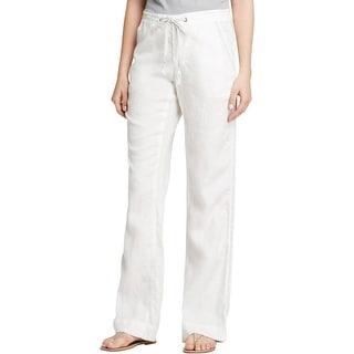 Joie Womens Katriane Lounge Pants Linen Wide-Leg