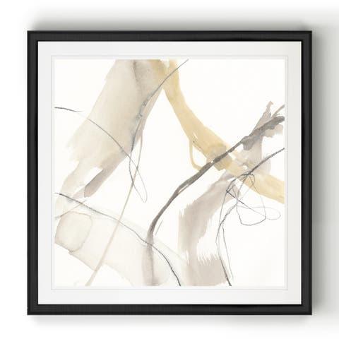 Neutral Momentum IV -Black Framed Print