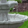 Sunnydaze Two Tier Solar-on-Demand Fountain, 35 Inch Tall - Thumbnail 13