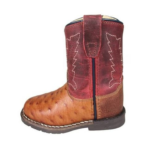 Smoky Mountain Western Boots Boys Autry Leather Cognac Red