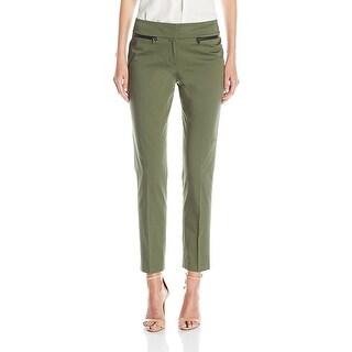 Nine West Cotton Straight Leg Pants - 14