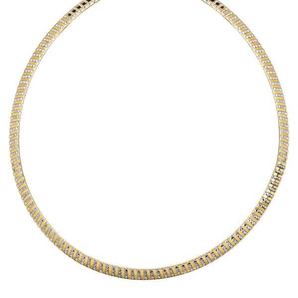 Reversible Avolto Omega Chain Necklace in 14K Gold-Bonded Sterling Silver - Two-tone